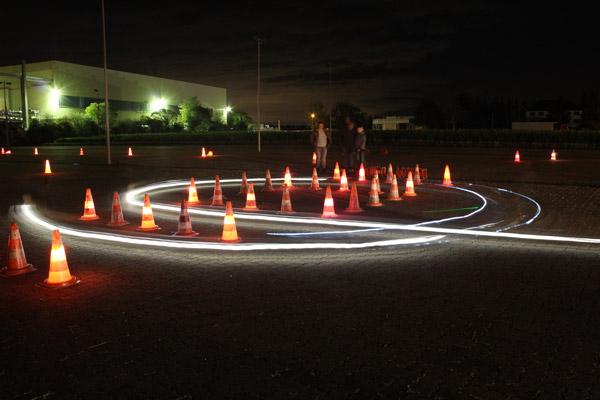 Glühwürmchen Slalom